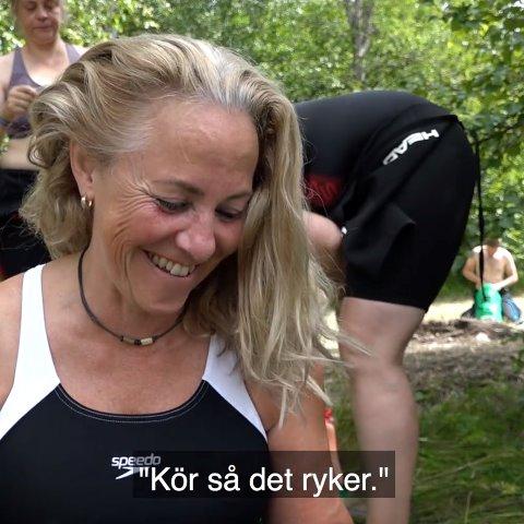 Susanne Nordqvist, deltagare i Min Klassiker, förbereder sig inför Vansbrosimningen.