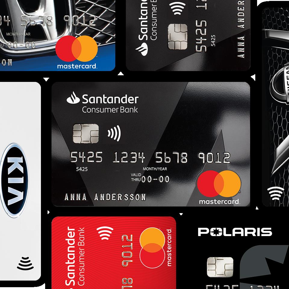 Ett kollage med olika bankkort