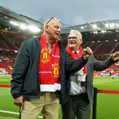 "Matz ""Kolis"" Pettersson och Nisse Jansson i Manchester."