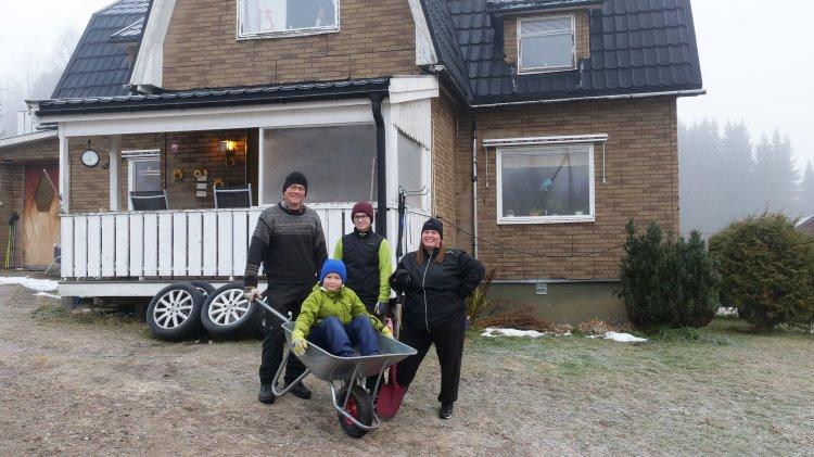 Line Synnöve Bengtsson med sin familj